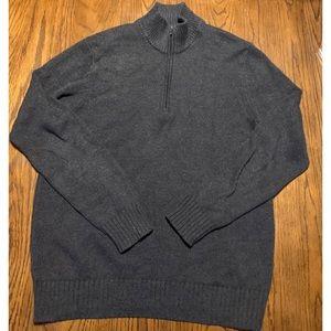5/$25 Calvin Klein Mens half zip sweater size lrg